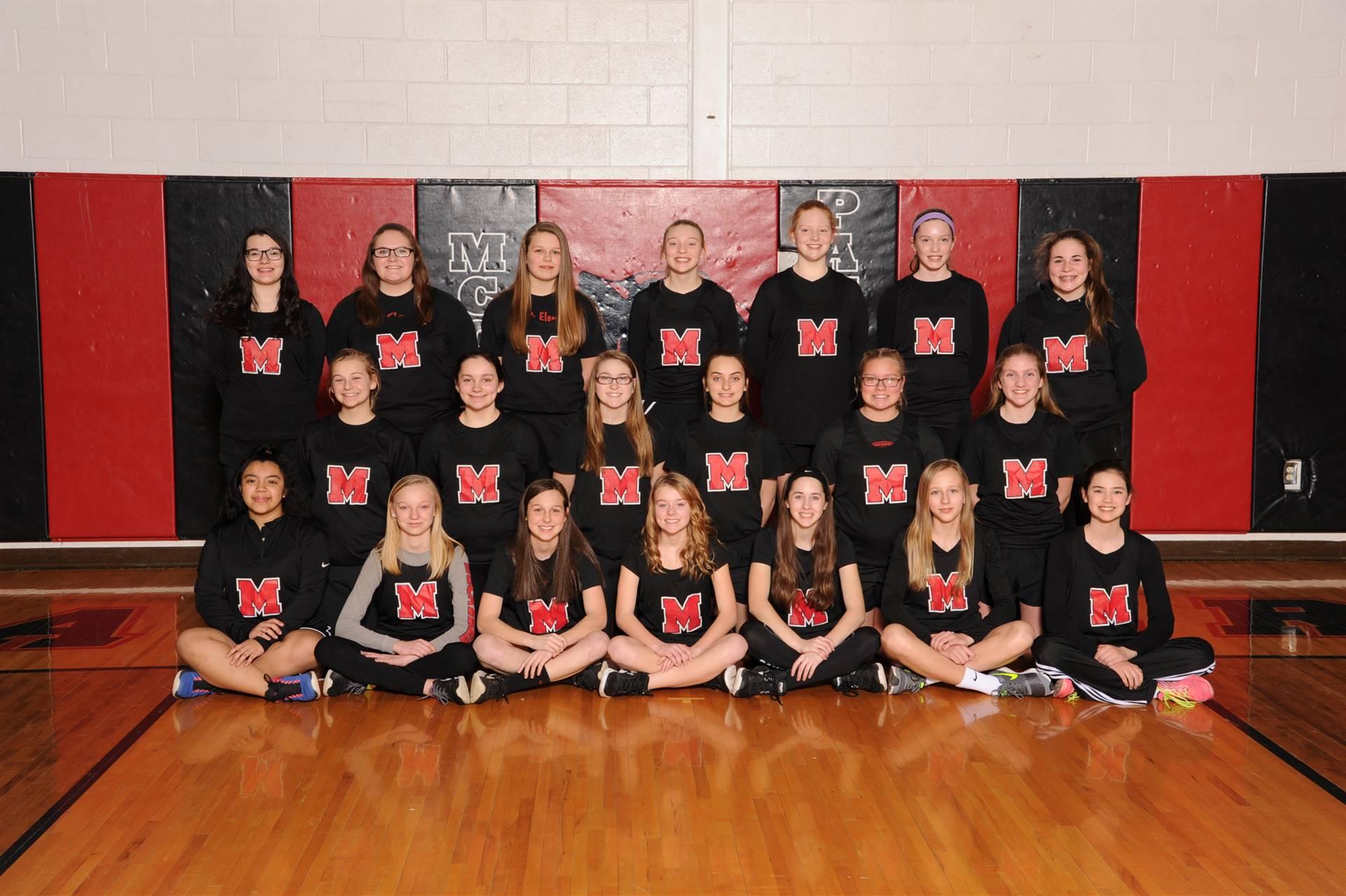 Girls Junior High Track Team